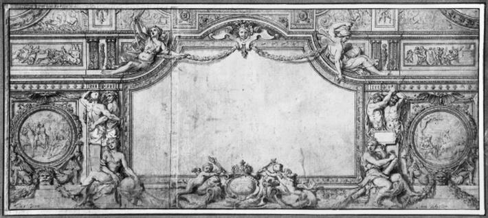 Project of decorated ceiling, c.1663