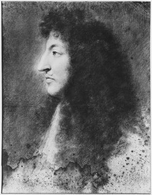 Portrait of Louis XIV, young, in profile to the left, c.1669-70