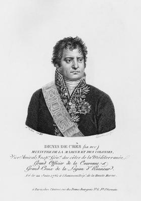 Denis Decres, Minister of Marine and the Colonies, engraved by Lanvin, 1813