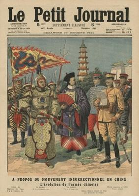 Movement of revolt in China, evolution of the Chinese army, illustration from 'Le Petit Journal', supplement illustre, 29th October 1911