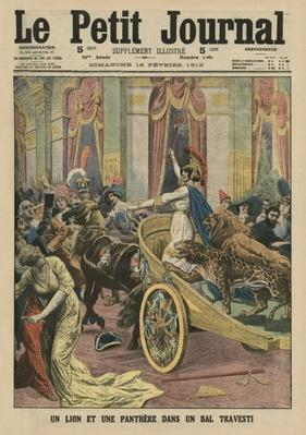Princess Radziwill at a fancy dress ball in Rome, front cover illustration from 'Le Petit Journal', supplement illustre, 16th February 1913