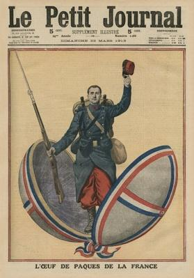 The Easter Egg of France, front cover illustration from 'Le Petit Journal', supplement illustre, 23rd March 1913