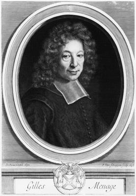 Gilles Menage, 1692, engraved in 1698 by Pierre Louis van Schuppen
