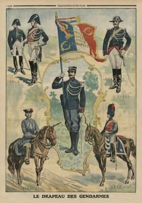 The flag of the Gendarmes, front cover illustration from 'Le Petit Journal', supplement illustre, 20th July 1913