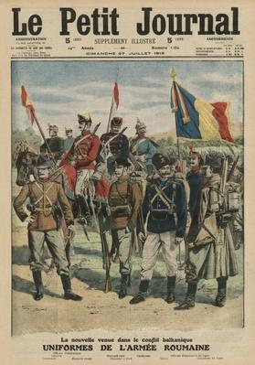 Uniforms of the Romanian army, front cover illustration from 'Le Petit Journal', supplement illustre, 27th July 1913