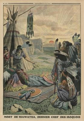 Death of Hiawatha, back cover illustration from 'Le Petit Journal', supplement illustre, 27th July 1913