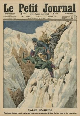 Homicidal Alp, front cover illustration from 'Le Petit Journal', supplement illustre, 10th August 1913
