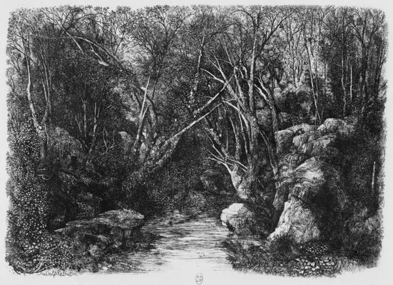 The Stream through the trees, 1880