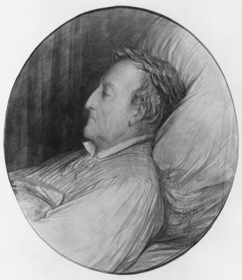 Gioacchino Rossini on his deathbed, 1868