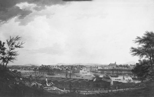 View of Bayonne seen from halfway down the citadel, 1761