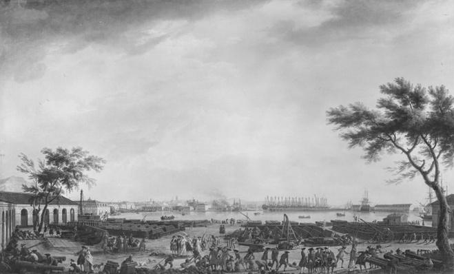 New Port and Arsenal of Toulon, seen from the artillery depot, 1755