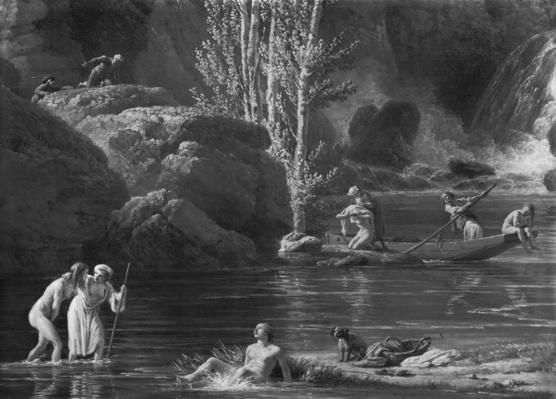 Morning, The Bathers, left hand side detail, 1772