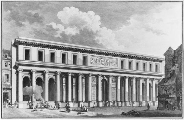 The Academy of Surgery, Paris, engraved by Claude Rene Gabriel Poulleau