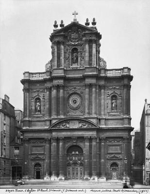 View of the facade of the Church of Saint-Paul-Saint-Louis, Paris, 1627-41