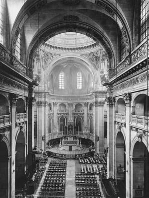Interior view of the nave of the Church of Saint-Paul-Saint-Louis, seen from the organ, 1627-41