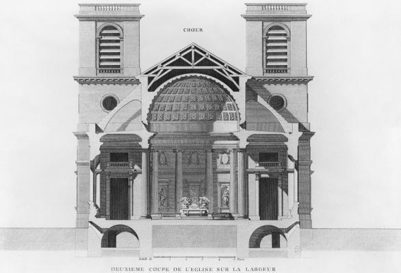 Second transverse cross-section of the church Saint-Philippe-du-Roule, Paris