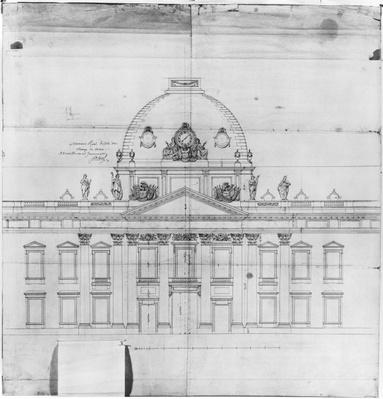 Design for the Ecole Militaire in Paris, 1769