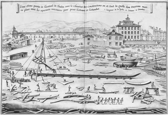 Arsenal of Toulon, illustration from the 'Atlas de Colbert', plate 1