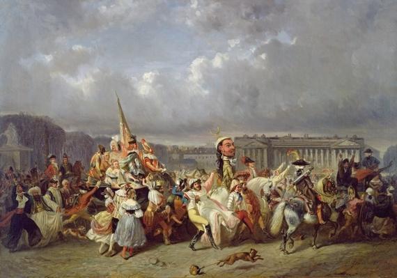 Carnival in the Place de la Concorde, Paris, c.1845