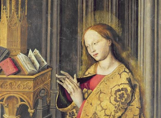 The Virgin Mary reading from a book of Hours, c.1445