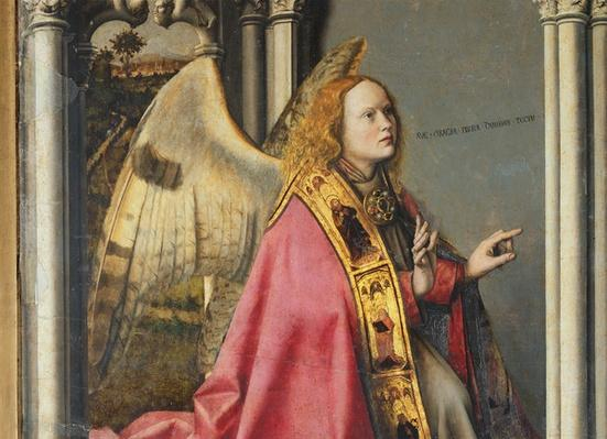 The Angel, Gabriel, making the Annunciation to the Virgin Mary, c.1445