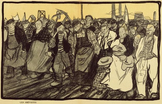 The Strikers, cartoon from 'L'Assiette au Beurre', 5 March, 1904 )colour litho)