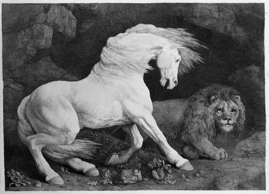 A Horse Affrighted by a Lion, engraved by the artist, 1788