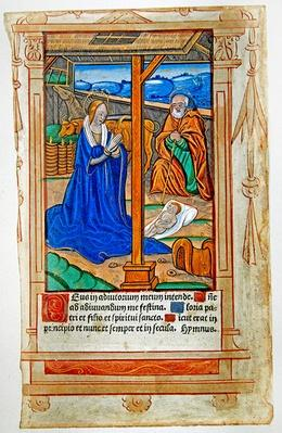 CL 22719B The Nativity, from 'Feuillets de Psaumes'