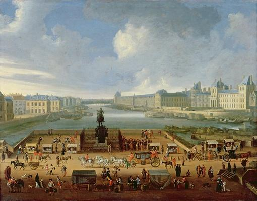 The Seine, the Louvre and the College of the Four Nations seen from Pont Neuf, c.1665-70