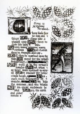 Illuminated text from Rossetti's 'House of Life' sonnet sequence, c.1880
