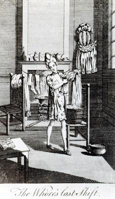 The Whore's Last Shift, illustration from 'The Covent Garden Magazine', 1773