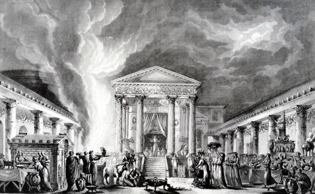 The Temple of Isis, Pompeii, illustration from Saint Non's 'Voyage pittoresque de Naples et de Sicile', etched by Duplessi-Bertaux and d'Agoty, 1781