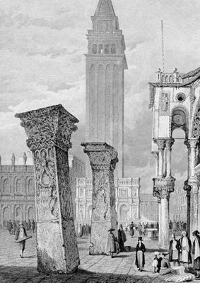 St. Mark's Square, Venice, engraved by Edward John Roberts