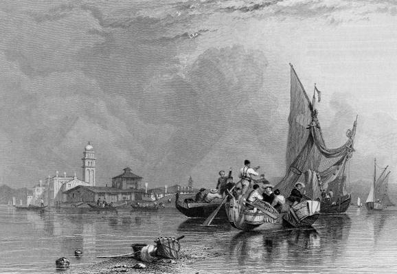 Murano, engraved by Robert Wallis, 1836