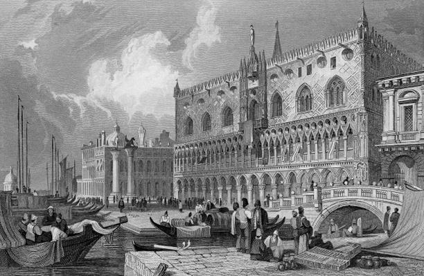 The Grand Canal and Doge's Palace, Venice, engraved by Charles Westwood, 1844