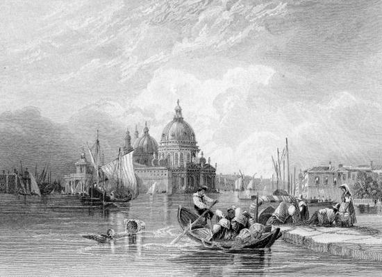 The Grand Canal, Venice, engraved by J. Thomas, c.1829
