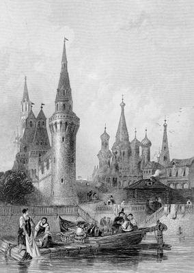 The Church of Vasili Blagennoi, Moscow, engraved by J. H. Kernot, c.1844