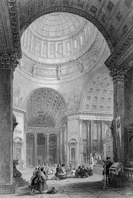 Interior of the Kazan Church, engraved by T. Higham