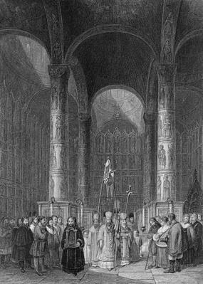 Interior of the Grand Cathedral of the Assumption, engraved by T. Higham, 1835
