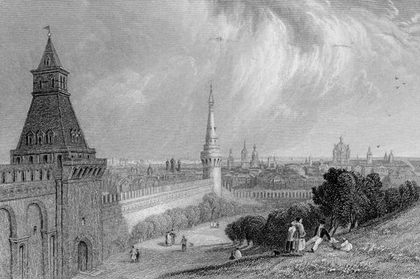 Moscow from the Esplanade of the Kremlin, engraved by J. T. Willmore