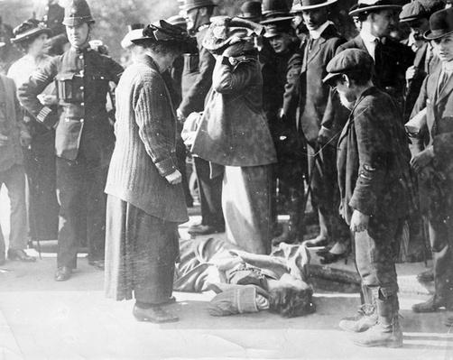 Scene at a Suffragette Demonstration