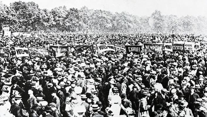 The Great Votes for Women Demonstration in Hyde Park, Sunday, June 12th 1908