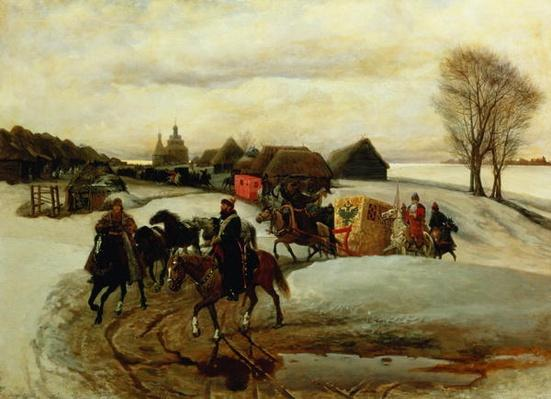 The Spring Pilgrimage of the Tsarina, under Tsar Aleksy Mihailovich, 1868