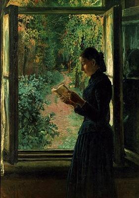 Portrait of Natalia Petrunkevitsin, 1893