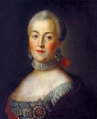 Portrait of Grand Duchess Catherine Alekseevna, future Empress Catherine II the Great, c.1760