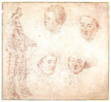 A Character and Four Heads