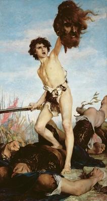 David Victorious Over Goliath, 1876