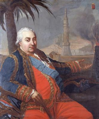 Portrait of Pierre Andre de Suffren of Saint-Tropez