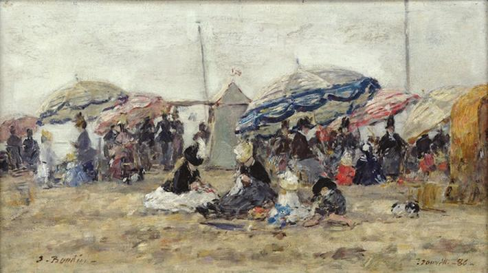 Parasols on the Beach at Trouville, 1886
