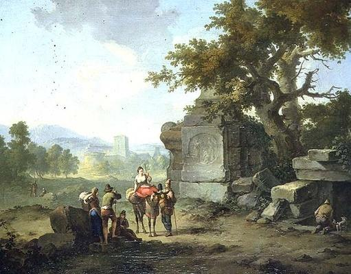 Rustic Landscape with Travellers
